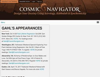 cosmicnavigator.com screenshot