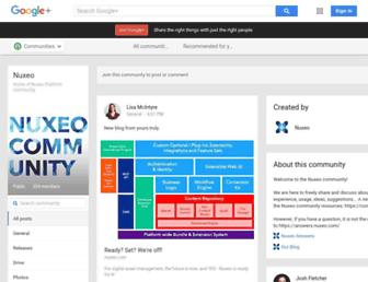 Main page screenshot of nuxeo.org