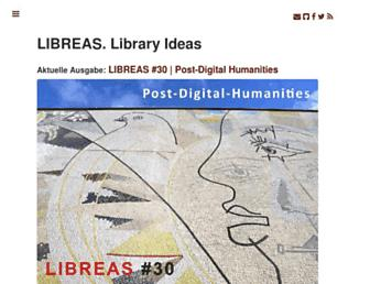 Main page screenshot of libreas.eu
