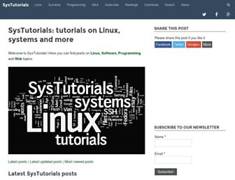 systutorials.com screenshot