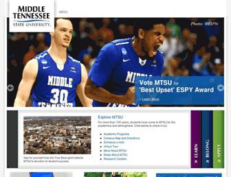 mtsu.edu screenshot