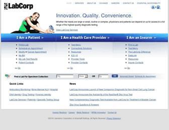labcorp.com screenshot