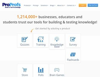 proprofs.com screenshot