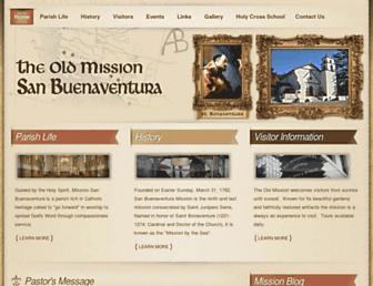 sanbuenaventuramission.org screenshot
