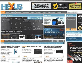 Main page screenshot of hexus.net