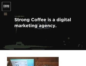 strongcoffeemarketing.com screenshot