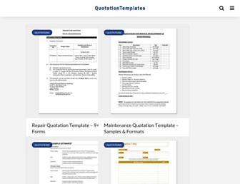 quotation-templates.com screenshot