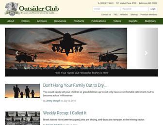 outsiderclub.com screenshot