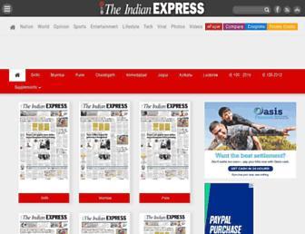 epaper.indianexpress.com screenshot