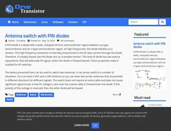 onetransistor.eu screenshot