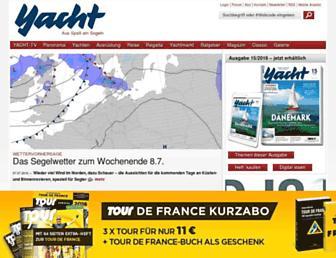 Main page screenshot of yacht.de