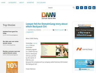Thumbshot of Domainnamewire.com