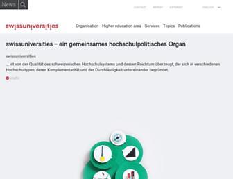 Main page screenshot of crus.ch