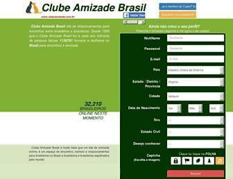 clubeamizade.com.br screenshot