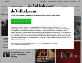 Main page screenshot of volkskrant.nl