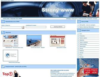 Main page screenshot of stronywww.eu