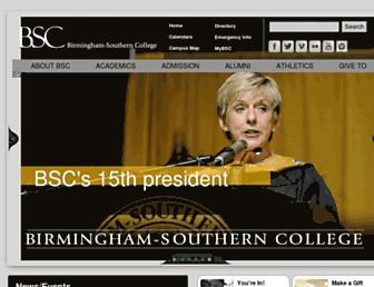 Main page screenshot of bsc.edu