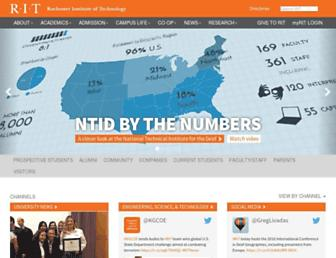 Main page screenshot of rit.edu