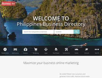 Screenshot for businesslist.ph