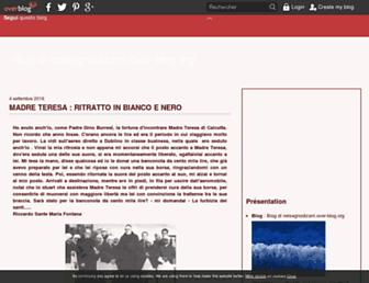 Main page screenshot of nelsegnodizarri.over-blog.org