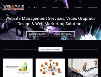 Main page screenshot of webmate.co.nz
