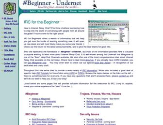 ircbeginner.com screenshot