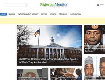 nigerianmonitor.com screenshot