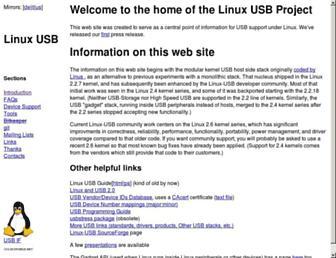 linux-usb.org screenshot