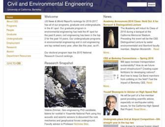 Main page screenshot of ce.berkeley.edu
