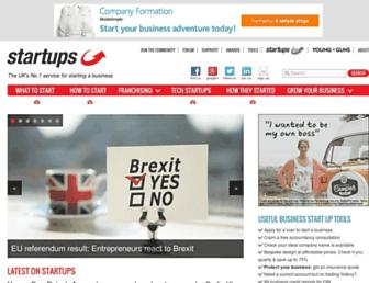 startups.co.uk screenshot