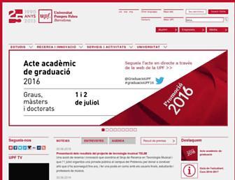 Main page screenshot of upf.edu