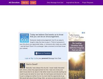 Thumbshot of Alldevotion.com
