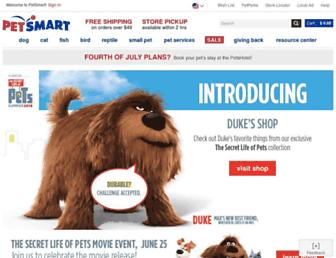 petsmart.com screenshot