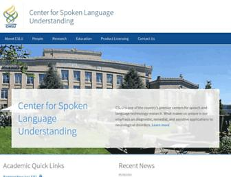 Main page screenshot of csee.ogi.edu