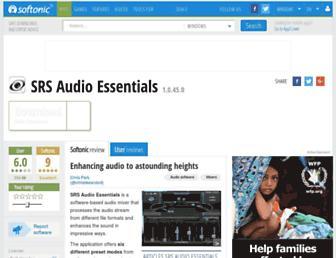 srs-audio-essentials.en.softonic.com screenshot