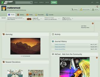 mattersmost.deviantart.com screenshot