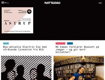 Main page screenshot of nattogdag.no