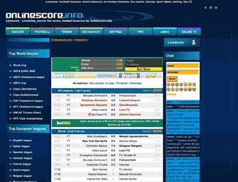 onlinescore.info screenshot