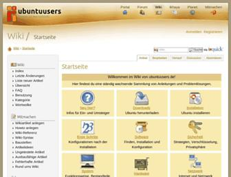 wiki.ubuntuusers.de screenshot