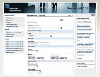 research.cbs.dk screenshot