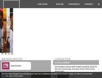 Main page screenshot of pluralism.org