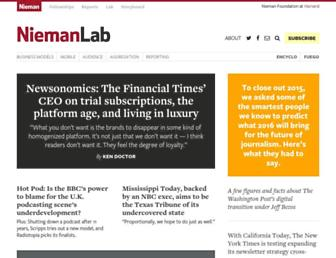 Main page screenshot of niemanlab.org