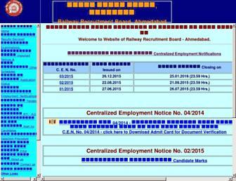 rrbahmedabad.gov.in screenshot
