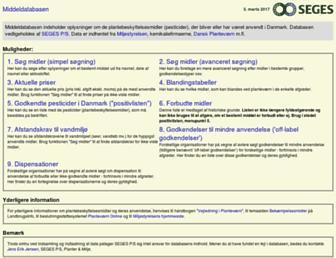 middeldatabasen.dk screenshot