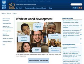 jobs.undp.org screenshot