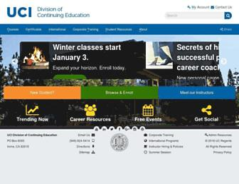 ce.uci.edu screenshot