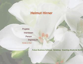 Main page screenshot of hirner.at