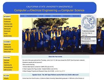cs.csub.edu screenshot