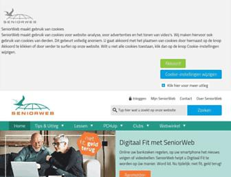 seniorweb.nl screenshot