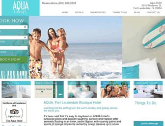 aquafortlauderdale.com screenshot